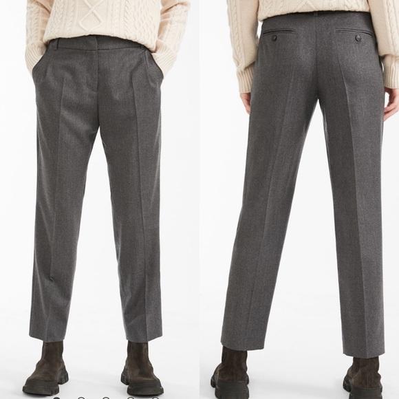 MaxMara Pants - Max Mara Weekend Wool Flannel Trousers Gray
